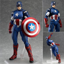 The Avengers Captain America #226 Figma Anime Action PVC Figure Toy New ln Box