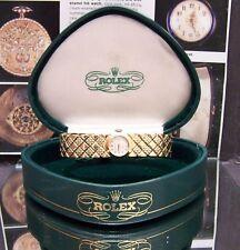 ANTIQUE VINTAGE 1960 ROLEX SWISS LOVELY SOLID 18K GOLD WATCH WORKING & ROLEX BOX