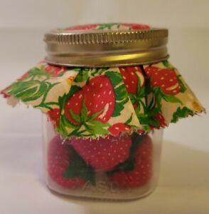 Lot 11 Handmade Fabric Strawberries In Kerr Square Mason Jar Farmhouse Decor