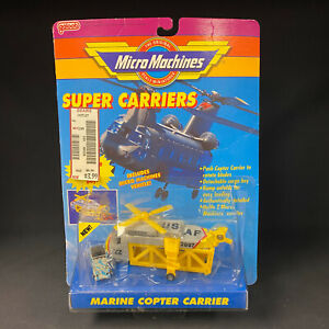 Micro Machines Super Carriers Marine Copter Carrier NEW OLD STOCK SEALED SHARP!