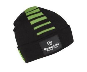 Kawasaki MX Racing Team KX Beanie Black Green Monster Beanie Hat NEW