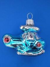 MINI HELICOPTER EUROPEAN BLOWN GLASS CHRISTMAS TREE ORNAMENT