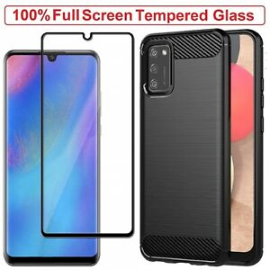 Samsung A02s Case Armor Cover Tempered Glass Screen Film For Samsung Galaxy A02s