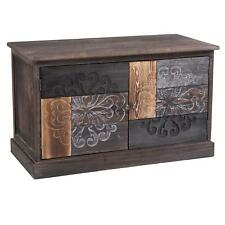09d8057fd6521 Banc rangement chaussures en bois paulownia style vintage ethnique bohême  brun