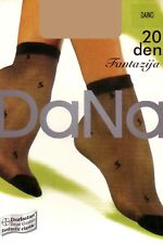 DANA 20 DEN PATTERNED ANKLE HIGH SOCKS UK 4-7. red