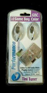 NIB! Game Boy Color/Pocket TINI TUNER Listen to Radio While Playing Games 2000