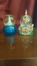 Disney Snow Globes - 50th Anniversary Mickey Mouse Parade & Cinderella Lot of 2