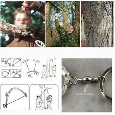 New Style Gear Steel Wire Saw Bushcraft Commando Emergency Camping Survival Tool
