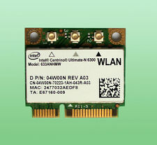 Intel Centrino Ultimate-N6300 Model:633ANHMW WiFi 802.11a/b/g/n  450Mbps 04W00N