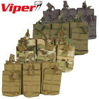 Viper Tactical Duo Mag Pouch Treble Magazine M16 M4 AK Airsoft MOLLE Bungee