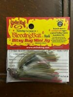 Strike King  Bleeding Bait Bitsy Bug Mini Jig, Bleeding Green Crawfish, 1/4 oz.