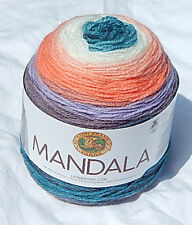 "Lion Brand Mandala Acrylic Yarn in ""Pegasus"" NEW, Smoke Free Home"