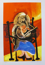 Pablo Picasso SEATED WOMAN READING Estate Signed Limited Edition Giclee Medium