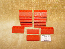 Set LEGO: supplementare: 480-4 piste & pendii doppio 2 x 4, Rosso (1966) 100% #2