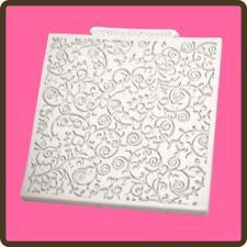 """4"""" Design Tappetino Fondente Glassa Torta Pasta di Zucchero Craft Stampo: romantico Swirl"""