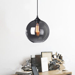 Glass Pendant Light Modern Ceiling Lamp Bar Grey Lights Home Chandelier Lighting