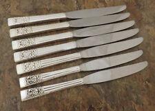Oneida Coronation Set of 7 Dinner Knives Community Silverplate Flatware Lot BB