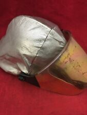 CAIRNS Fire Fighter Helmet Turnout Gear White w/Cover & Visor Unit 1
