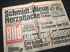 Bildzeitung BILD 26.07.1990 * zum 28. 29. 30. Geburtstag * Helmut Schmidt
