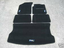 Car Mats in Black to fit Renault Clio Mk2 (1998-2005) + Cup 182 Logos + Boot Mat