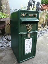 Post Box in Irish Green Irish P & T Post Box with Harp