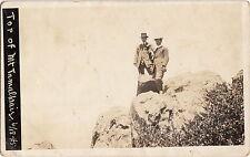 TOP OF MT. TAMALPAIS ~ TWO SPIFFY GUYS WITH BINOCULARS ~ 1918