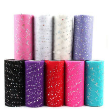 25YD Glitter Colorful Tulle Rolls Sequins Tutu Fabric Wedding Party Bridal Decor