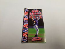 Vancouver Canadians 1999 Minor Baseball Pocket Schedule - Scotiabank