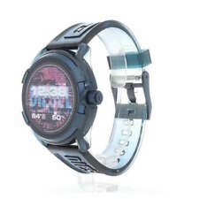 Diesel On Men's Fadelight Metal and Silicone Touchscreen Smartwatch-Blue