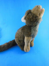 """10.5"""" Wolf Plush Howling at the Moon by Art's Toy Rare HTF Nice Quality"""