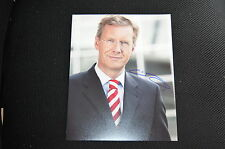 CHRISTIAN WULFF signed Autogramm autograph 20x25  In Person BUNDESPRÄSIDENT
