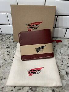 New Red Wing Shoes Classic Bifold Leather Wallet Oro Russet Frontier Made In USA