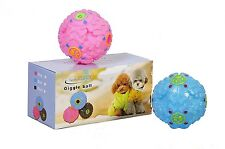 PACK OF 2 GIGGLE BALL PET DOG TOUGH TREAT TRAINING CHEW SOUND ACTIVITY TOY SQUEA