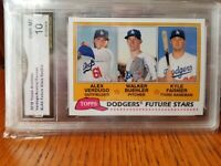 2018 Topps Archives Future Stars Dodgers Walker Buehler Alex Verdugo GMA 10🔥