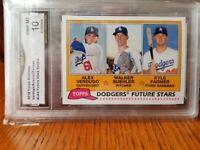 ⚾️2018 Topps Archives Future Stars Dodgers Walker Buehler Alex Verdugo GMA 10🔥