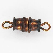 Barrel Clasps Necklace Bracelet Blackened Copper Distressed Pack of 100
