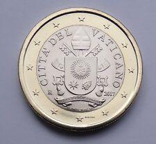 Oficial 1 euro rumbo moneda vaticano 2017 bu con emblema de Papa Francisco