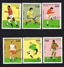 Football Congo (11) série complète 6 timbres oblitérés