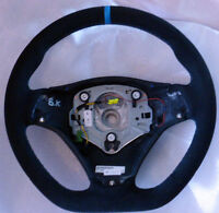 BMW OEM E90 E92 E93 M3 E82 M Performance Steering Wheel Alcantara Blue Stripe