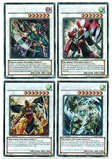 4 Synchro YuGiOh Cards Warrior Mist Valley Thunder Lord Windmill Genex Magician