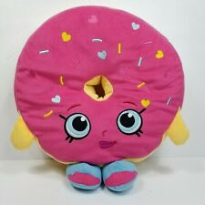 "Shopkins D'Lish Donuts Pink Sprinkles Plush Pillow Cushion Stuffed Large 14"""