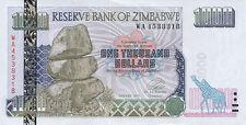 Zimbabwe/ Simbabwe 1.000 Dollars 2003 Pick 12 UNC