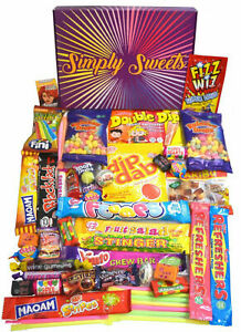 Simply Sweets super retro sweet hamper gift box Packed with the best retro A mix