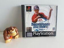 PS1 TIGER WOODS USA TOUR 2001 - PLAYSTATION 1 PS1 PAL