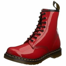 Dr. Marten's Women's 1460 8-Eye Red Patent Leather Boots Sizes US 11 UK 9 EU 43