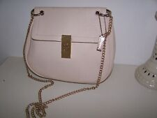 LADIES SHOULDER BAG BY GLAMEROUS BEIGE COLOUR 10 INCHES CHAIN STRAP