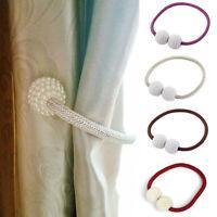 Magnetic Window Curtain Strap Buckle Holder Hoop Ball Tieback Magnetic Clips DIY