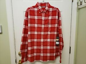 Texas Tech NWT Plaid Shirt, Flannel, Mens Large . Embroidered with TT logo....