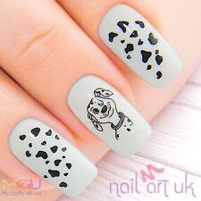 Dalmatian Dog Puppy Water Decal Nail Stickers Tattoo Art 01.03.109