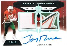 2013 Upper Deck JERRY RICE Ultimate Collection Signatures Patch Autograph #d /10